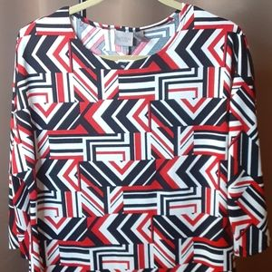 NEW Womens 3/4 Sleeve Pull Over Top Shirt Sz 1